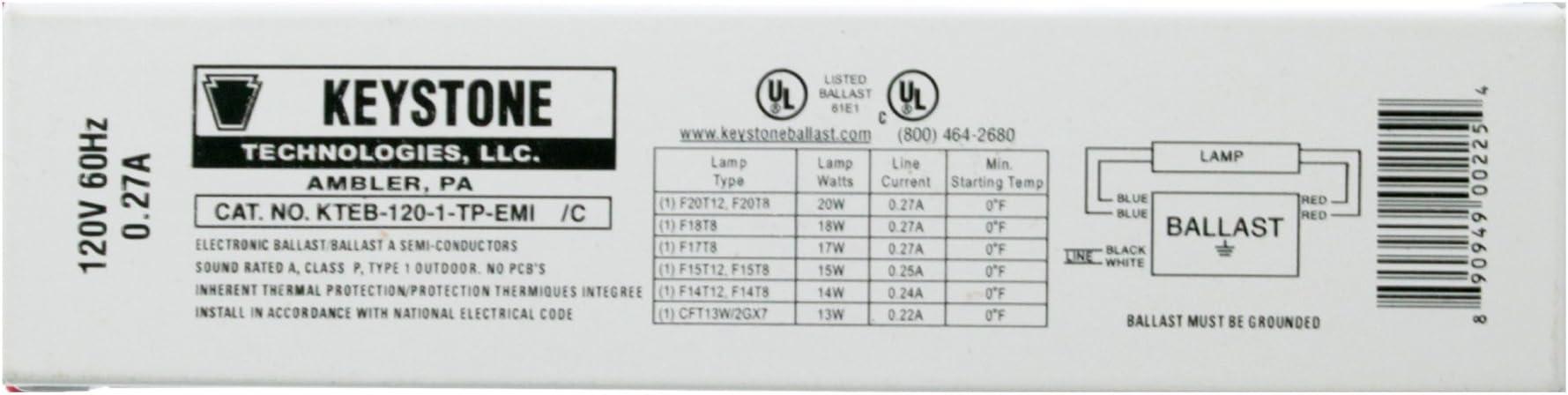 Keystone KTEB-120-1-TP-EMI T12 Electronic Ballast
