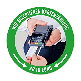 Ec Kartenzahlung.Aufkleber Sticker Ec Kartenzahlung Ab 10 Euro Kreditkarte Moglich Ab 10 Fur Handler Dienstleister Mit Kartenlesegerat Witterungsbestandig