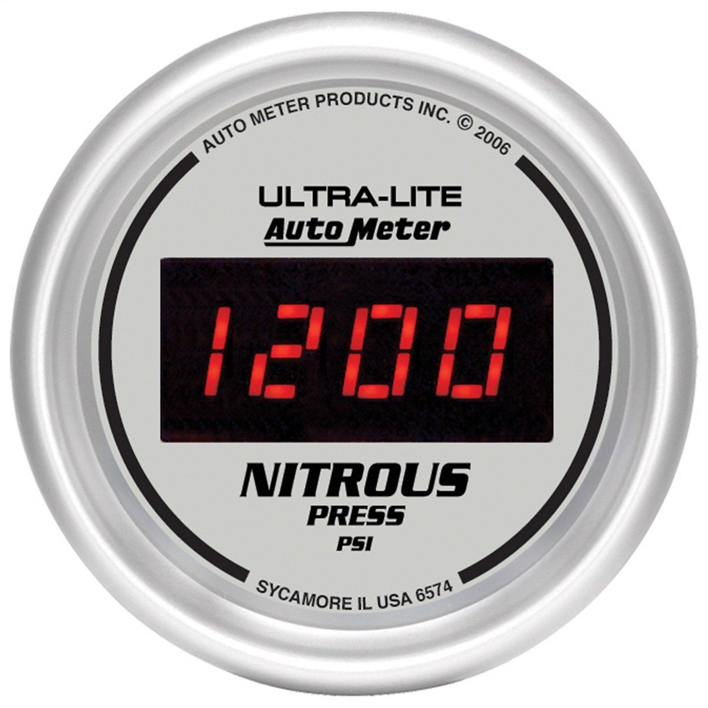 Auto Meter 6574 Ultra-Lite Digital 2-1/16' 0-2000 PSI Digital Nitrous Pressure Gauge