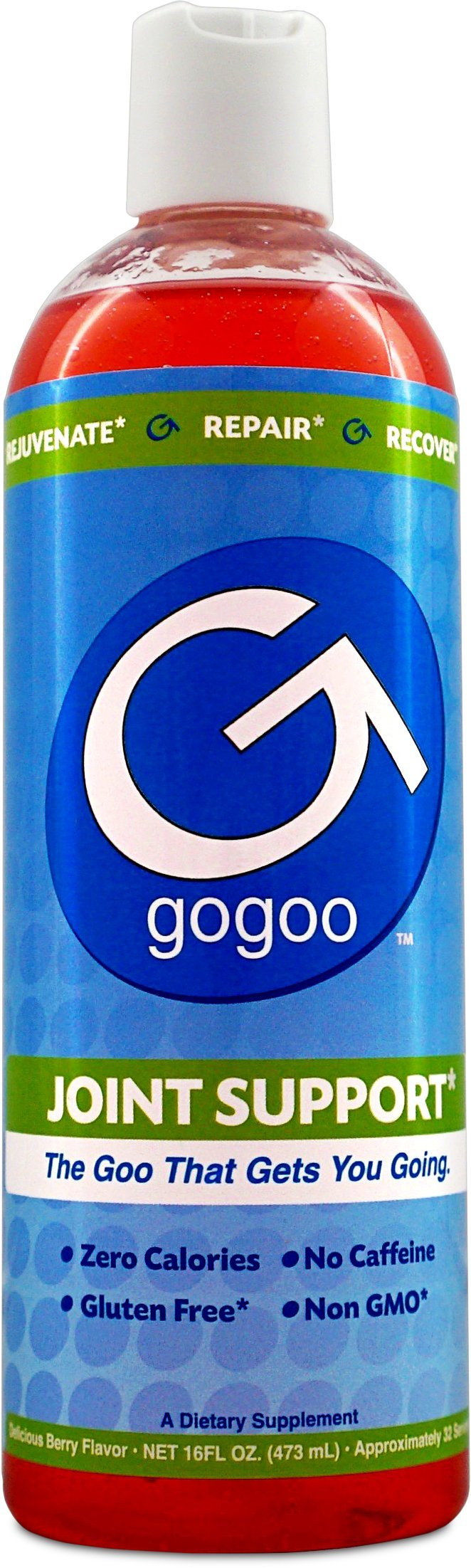 Gogoo - Hyaluronic Acid, MSM & Glucosamine Sulfate Joint Support Supplement, 16 oz Oral Liquid Gel, 32 Servings