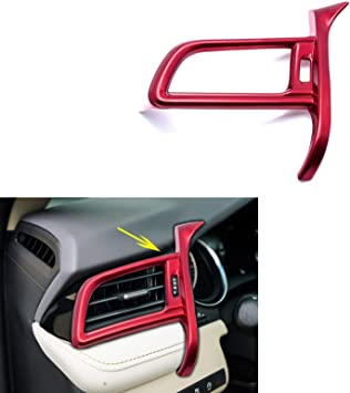 Red quality ABS Inner Side Air Vent Outlet Cover Trim For Toyota Camry 2018 2019