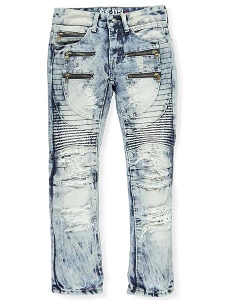 5721da729 GS-115 Big Boys' Circular Seamed Jeans - Blue, 14: Amazon.ca ...