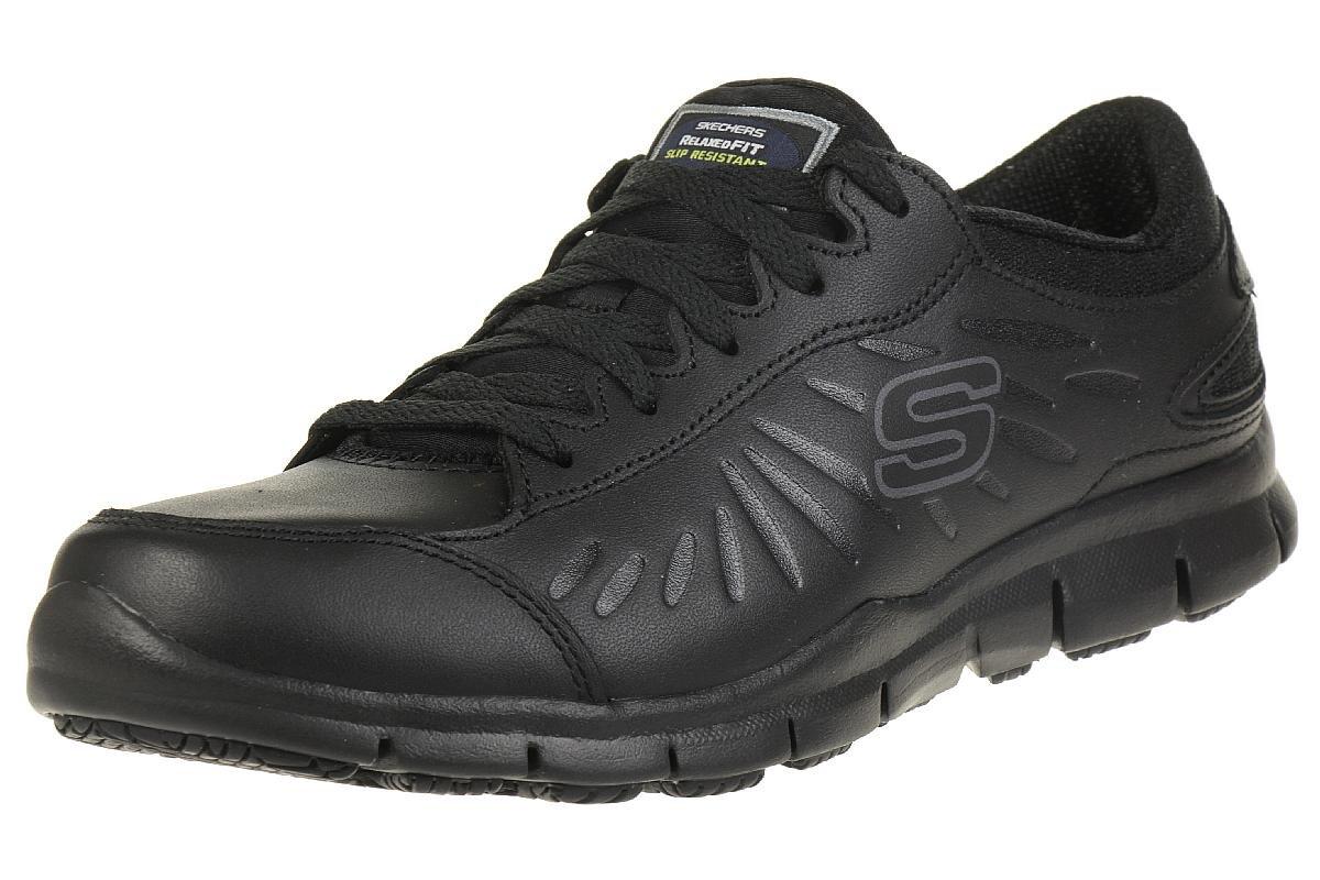 Skechers Eldred Slip Resistant Womens Work Shoes 5 UK/7 US Black