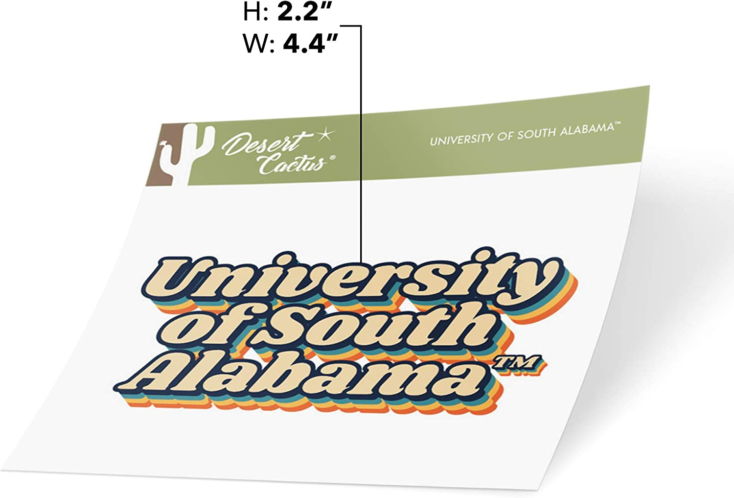 University of South Alabama USA Jaguars NCAA Vinyl Decal Laptop Water Bottle Car Scrapbook 70s Name Sticker