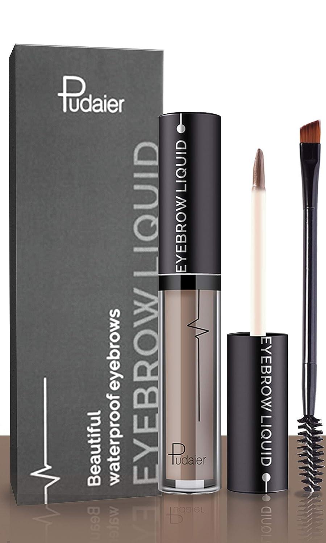 Waterproof Liquid Eyebrow Gels-24Hours Long Lasting Smudge-Proof Tinted Makeup Color Brow Gel-Light Grey