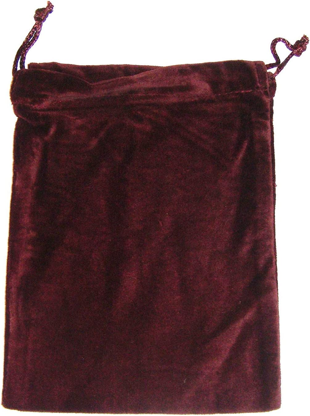 Drawstring Closure Adult Cremation Urn Burgundy Velvet Urn Bag Premium Quality