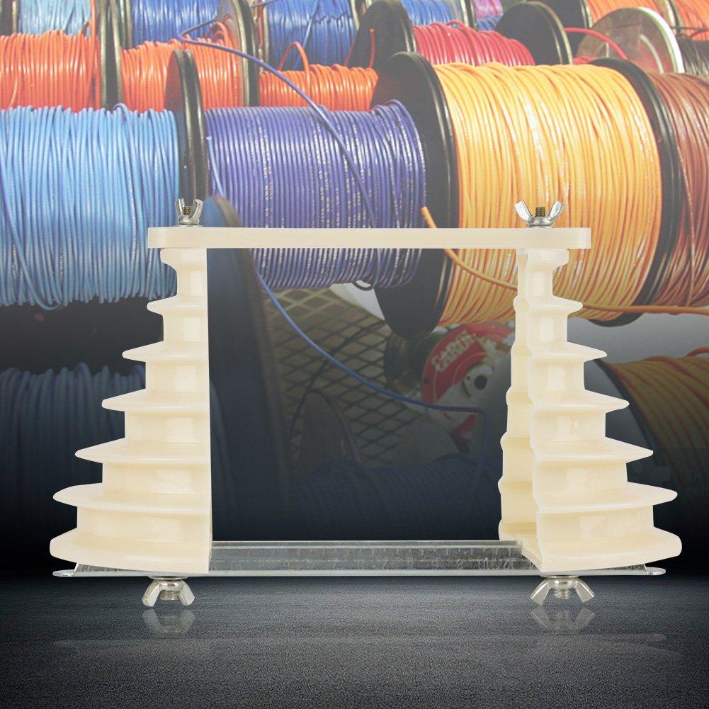 Máquina eléctrica de plástico monofásico de 6 capas de alambre de bobina de cable molde de alambre soporte de cabeza color beige: Amazon.es: Industria, ...