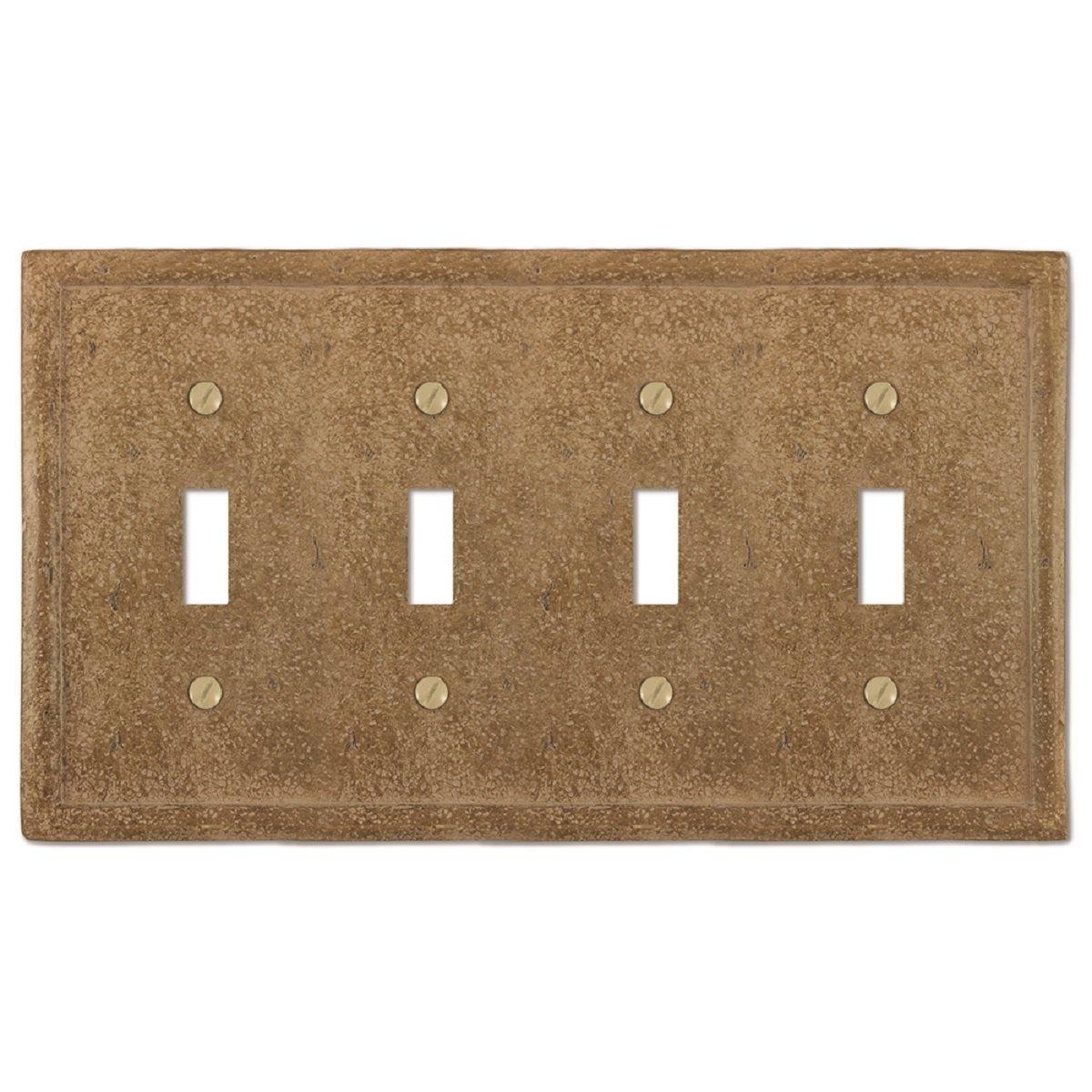 大人気新品 Amertac 8351TDNC 1 Toggle/1 Toggle/1 Duplex Wallplate Texture Noce Stone Noce Wallplate by AmerTac B00D22NQFY 4 Toggle 4 Toggle, こだわりパン屋の田中さん:da32d568 --- svecha37.ru