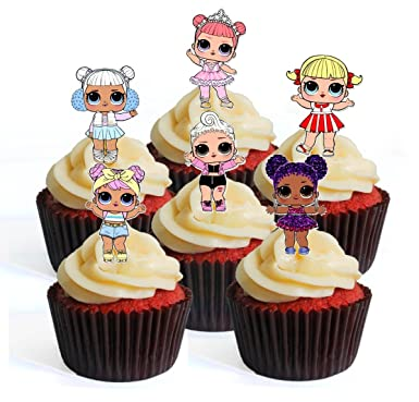 24 Halloween Wafer Rice Paper Edible Cupcake Toppers Fairy Cake Bun Topper