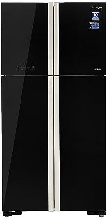 Hitachi 563 L Frost Free Multi-Door Refrigerator(R-W610PND4 - GBK, Glass Black, Inverter Compressor)