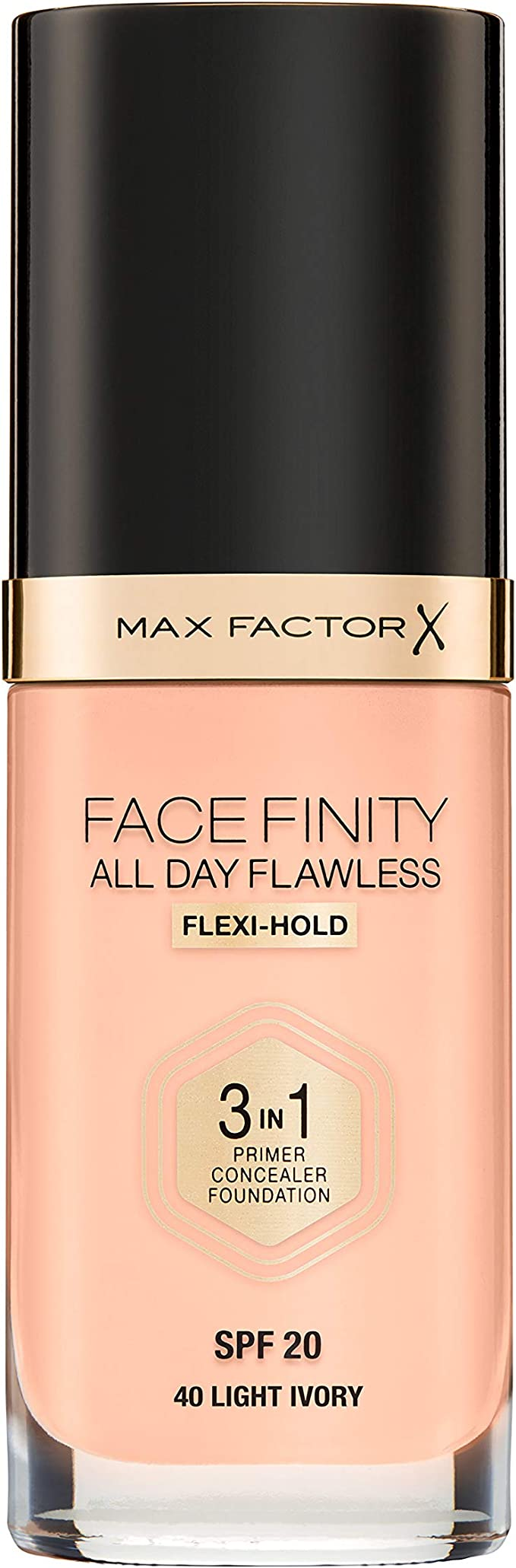 Max Factor Facefinity All Day Flawless 3 In 1 Foundation SPF 20, No. 40 Light Ivory