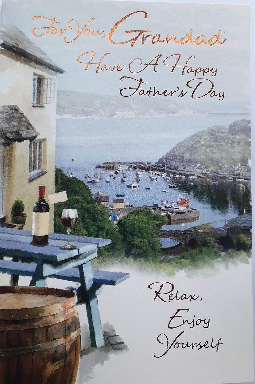 UK Free Post Coastal Scene Fathers Day Card -