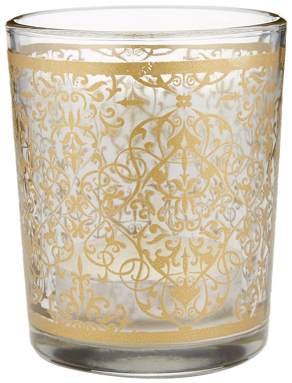 96''Golden Renaissance'' Glass Tealight Holders