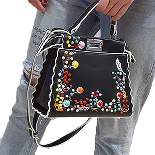 a637399f1675 Joaquin Lawrence NEW Summer Women Peekaboo Bag Embroidery Famous Brand  Designer Tote Handbag Shoulder Bags Printing
