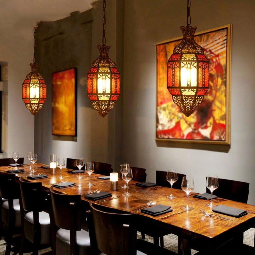 araña Características Restaurante Café Bronce Cristal de Color Retro Tallado Cobre Puro Lámpara de Cristal de Soldadura Palacio de Palacio Europeo: ...