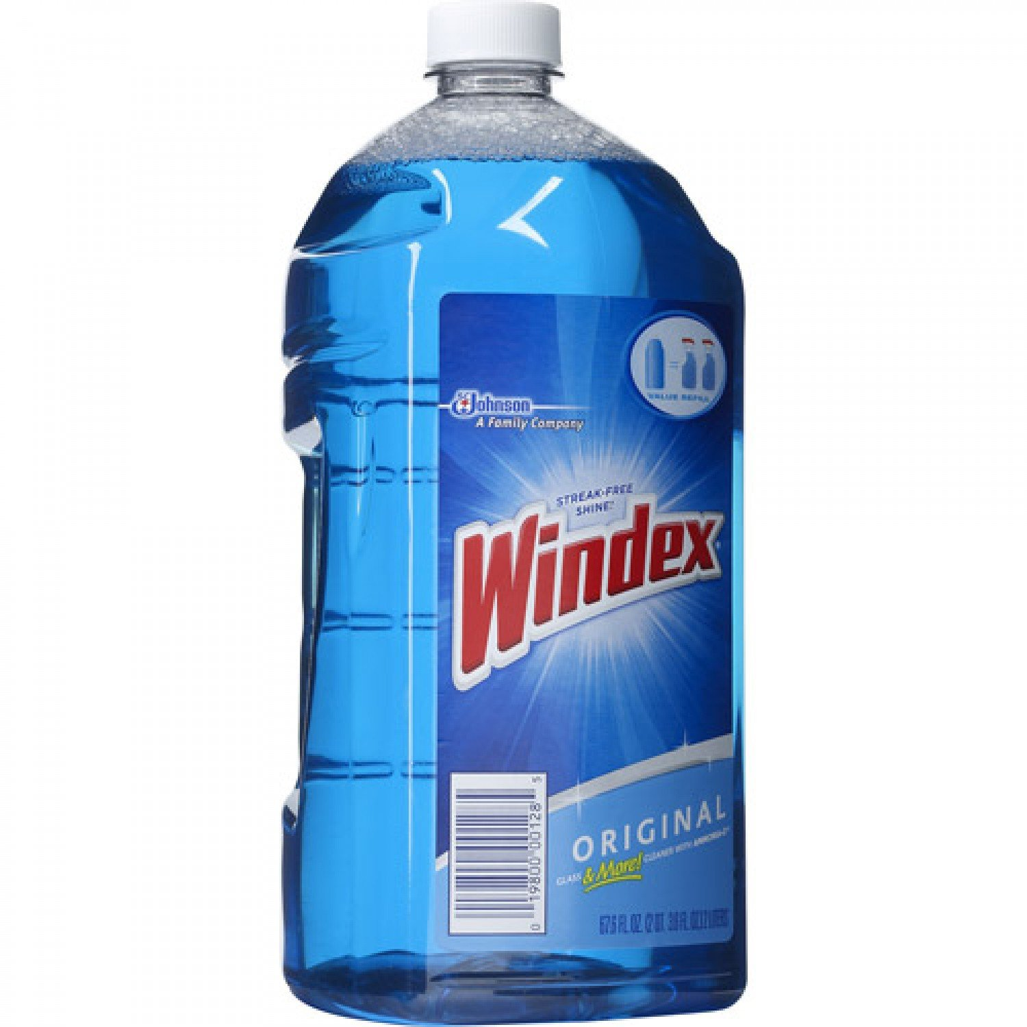 Windex Cleaner Window Refill 67.6-Ounce (2 Liter) Bottles (Pack of 6)