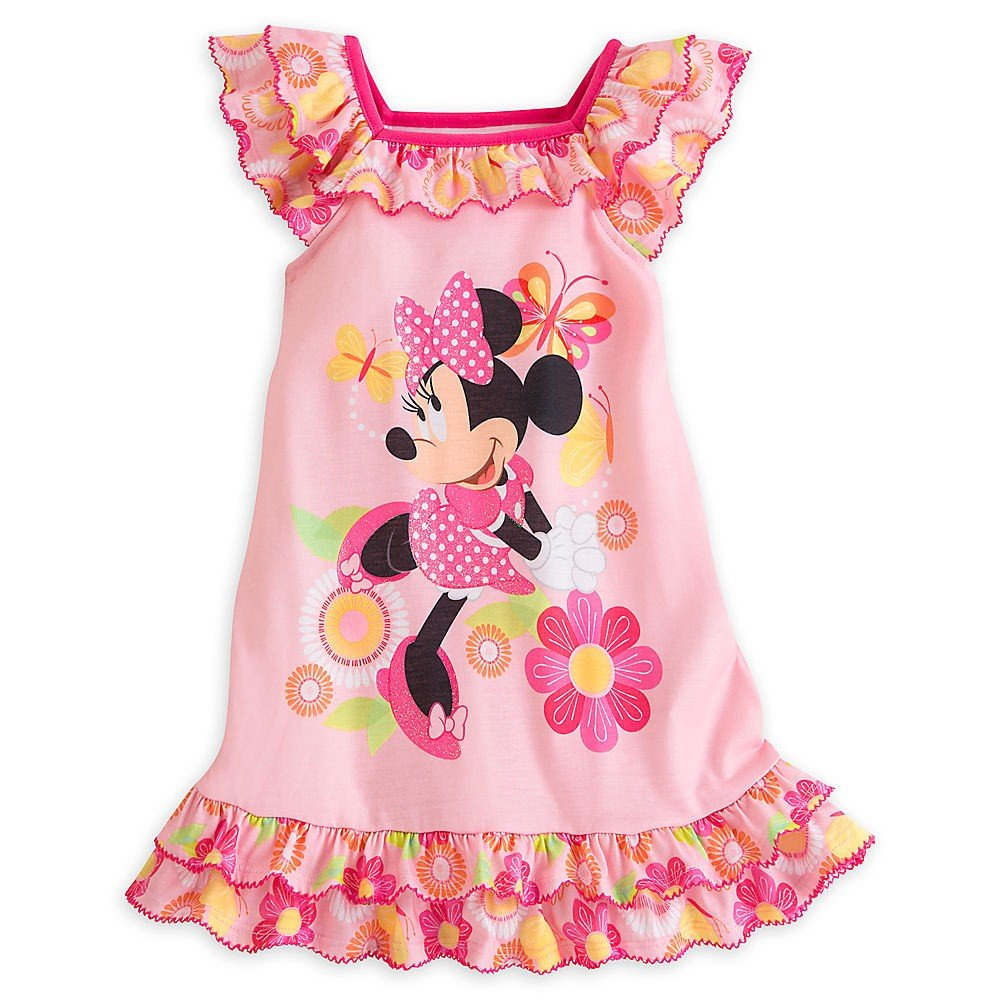Disney Minnie Mouse Clubhouse Pink Floral Nightshirt for Girls (7/8)