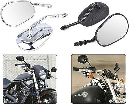 Motorrad Rückspiegel Seitenspiegel Für Harley Sportster Xl 883 1200 Softail Dyna Bobber Chopper Street Glide Schwarz Auto