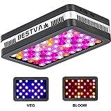 BESTVA Reflector Series 600W COB LED Grow Light Full Spectrum Grow Lamp for Hydroponic Indoor Plants Veg and Flower (2…