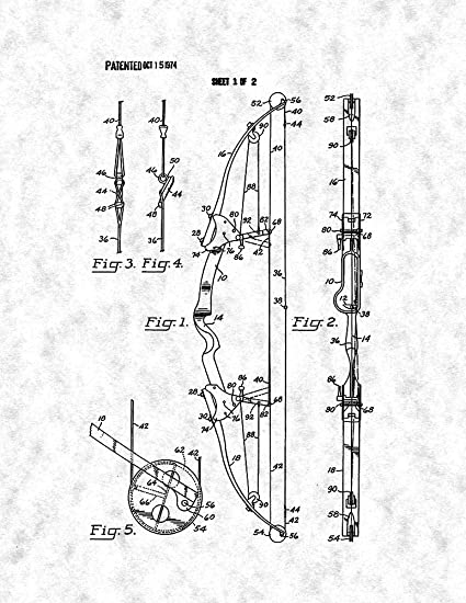 Compound Archery Bow Patent Print Gunmetal (5