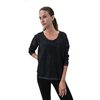 Satva Organic Cotton Relaxed Fit Open Back Textured Knit Tia Sweater