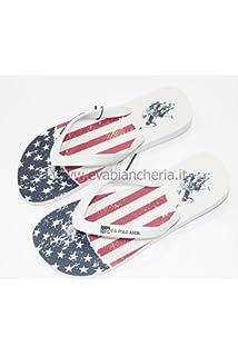 TONGS USA RICK FLAG BLANC - US POLO ASSN - Taille - 45 3LZSzYpB