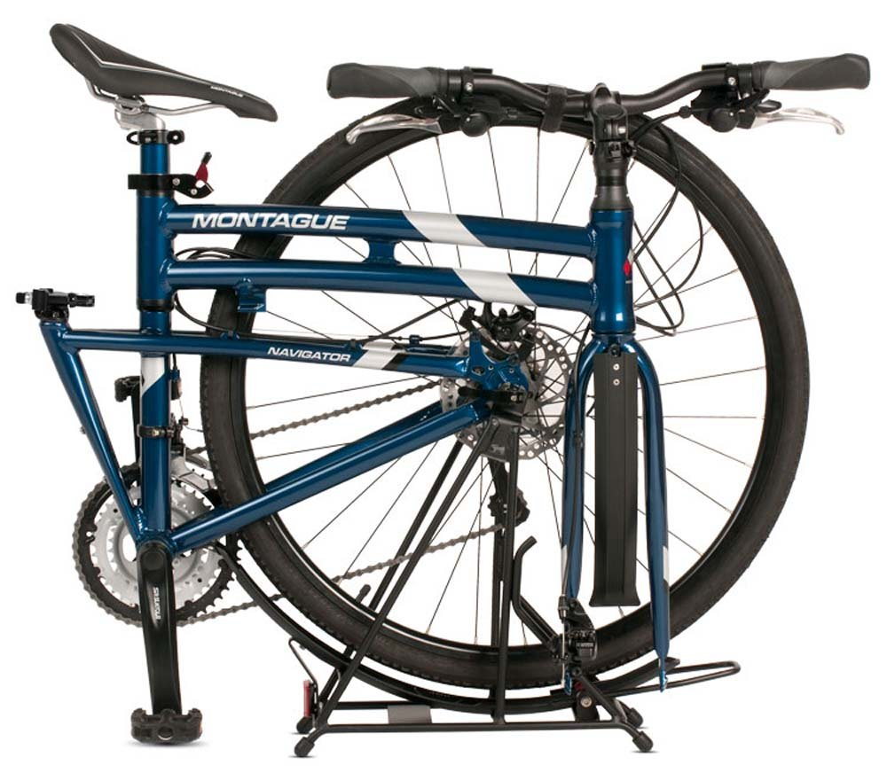 Montague Navigator Folding 700c Hybrid Bike Midnight Blue 21 – New Model