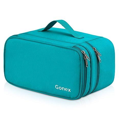 a270b0315fd2 Bra Travel Organizer Bag, Gonex Underwear Lingerie Packing Storage Case Blue