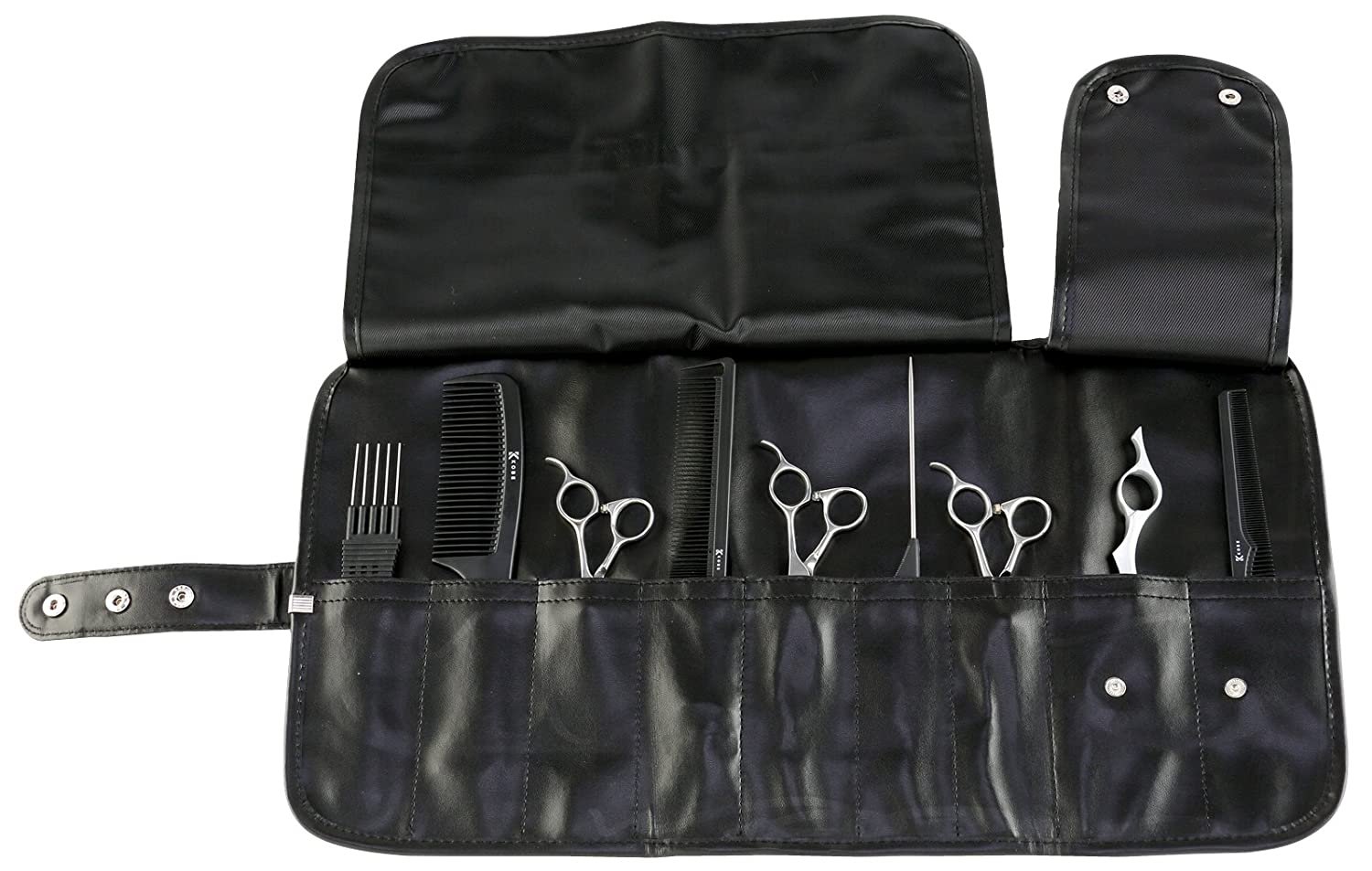 Professional Hairdresser's Black Tool Roll - Hard-Wearing Leatherette CoolBlades