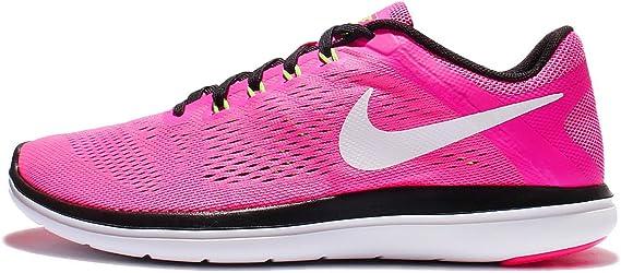 Nike Flex 2016 Rn Zapatillas de correr para mujer, Rosa (Explosión rosa/Negro/Verde eléctrico/Blanco), 36 EU: Amazon.es: Deportes y aire libre