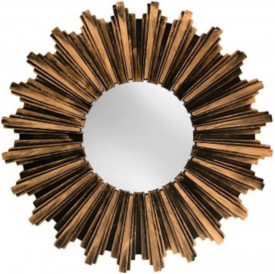 Kole OF546 Wall Mirror Antiqued Bronze Sunburst Wall Mirror