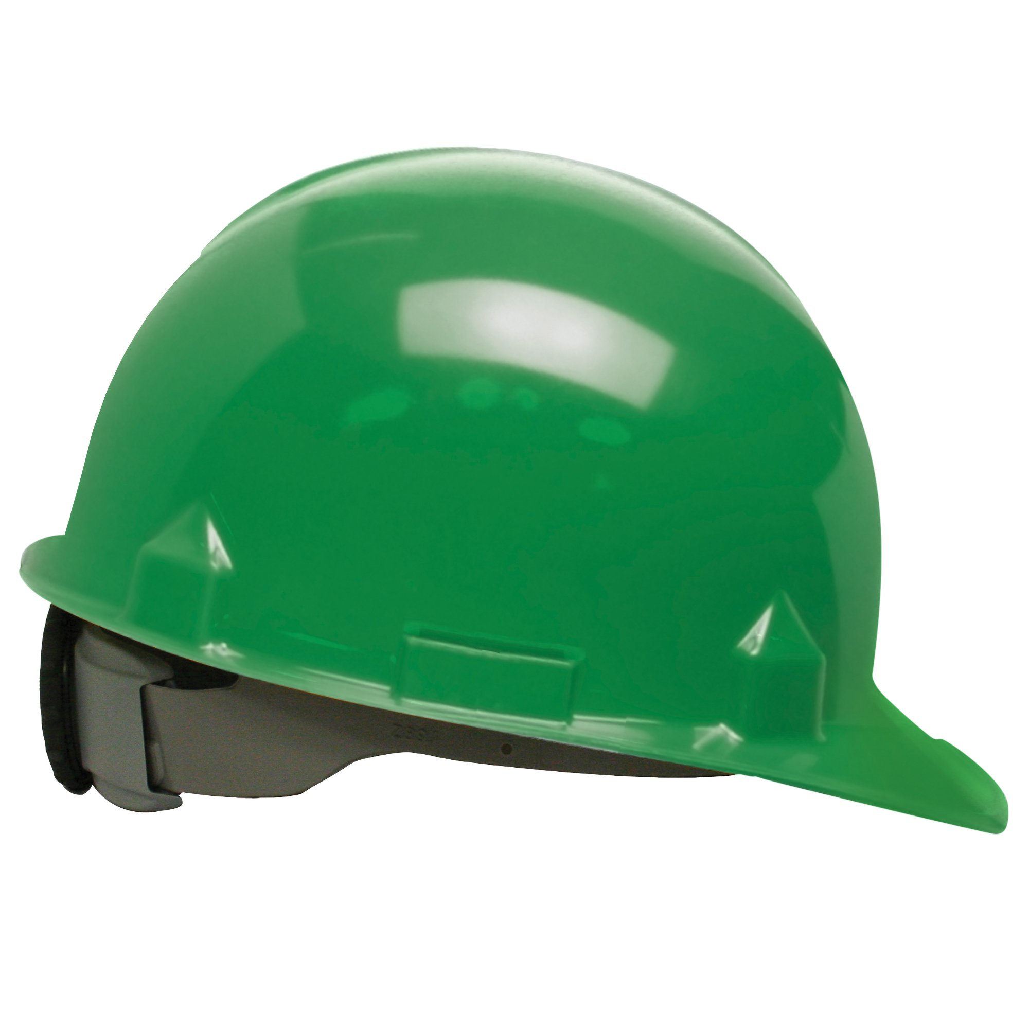 Jackson Safety SC-6 Hard Hat (14837), 4-Point Ratchet Suspension, Smooth Dome, Meets ANSI, Green, 12 / Case