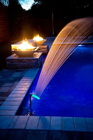 Pool Waterfall Spray Pond Fountain Water Fun Sprinklers Fits Most 1.5 InGround /& Above Ground Return Jets