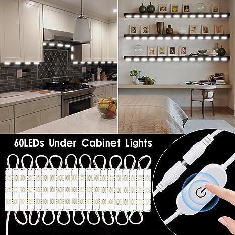 Luce Armadio LED, SOLMORE Luce per Armadio 20x3 LEDs con Controller Lampada  Regolabile Flessibile per Soggiorno, Armadi, Corridoi, Caffè, Hotel, ...