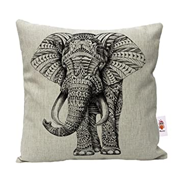 Nunubee Animal Cotton Linen Cushions Cover Sofa Throw Pillow Case