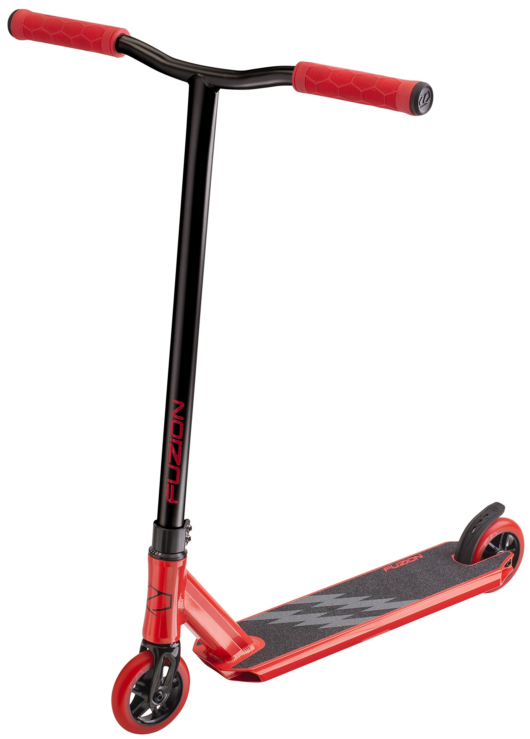 Fuzion Z250 Pro Scooters - Trick Scooter - Intermediate and Beginner Stunt Scooters for Kids 8 Years and Up, Teens and Adults – Durable, Smooth, Freestyle Kick Scooter for Boys and Girls (Red V2)