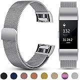Fitbit Charge 2 Bracelet,eDriveTech pour Fitbit Charge 2 bandes de remplacement magnétique de luxe en métal de Sport Bande accessoires pour Fitbit Charge 2 femmes hommes Bracelets de poignet étanches