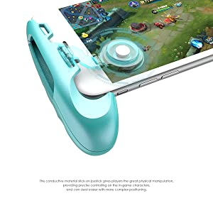 GameSir F1 Joystick Grip Phone Game Controller Handle Holder for Mobile Phone, Ergonomic Design to Improve Grip and Comfort, Support 5.5-6.5 Inches Smartphones (Blue) (Color: Blue)