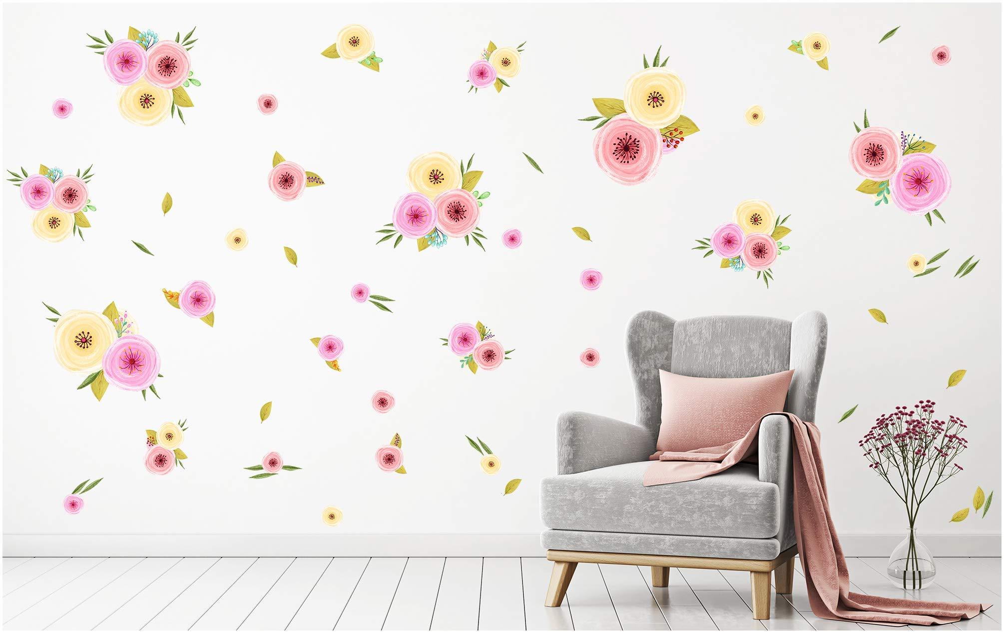 Vinilo Decorativo Pared [7MBC4T1J] flores