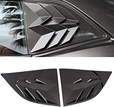 Carbon Fiber ABS Best Great Car Side Window Scoop Louvers Cover ABS Accessories for Dodge Challenger RT SRT Hellcat 2010-2020 SXT