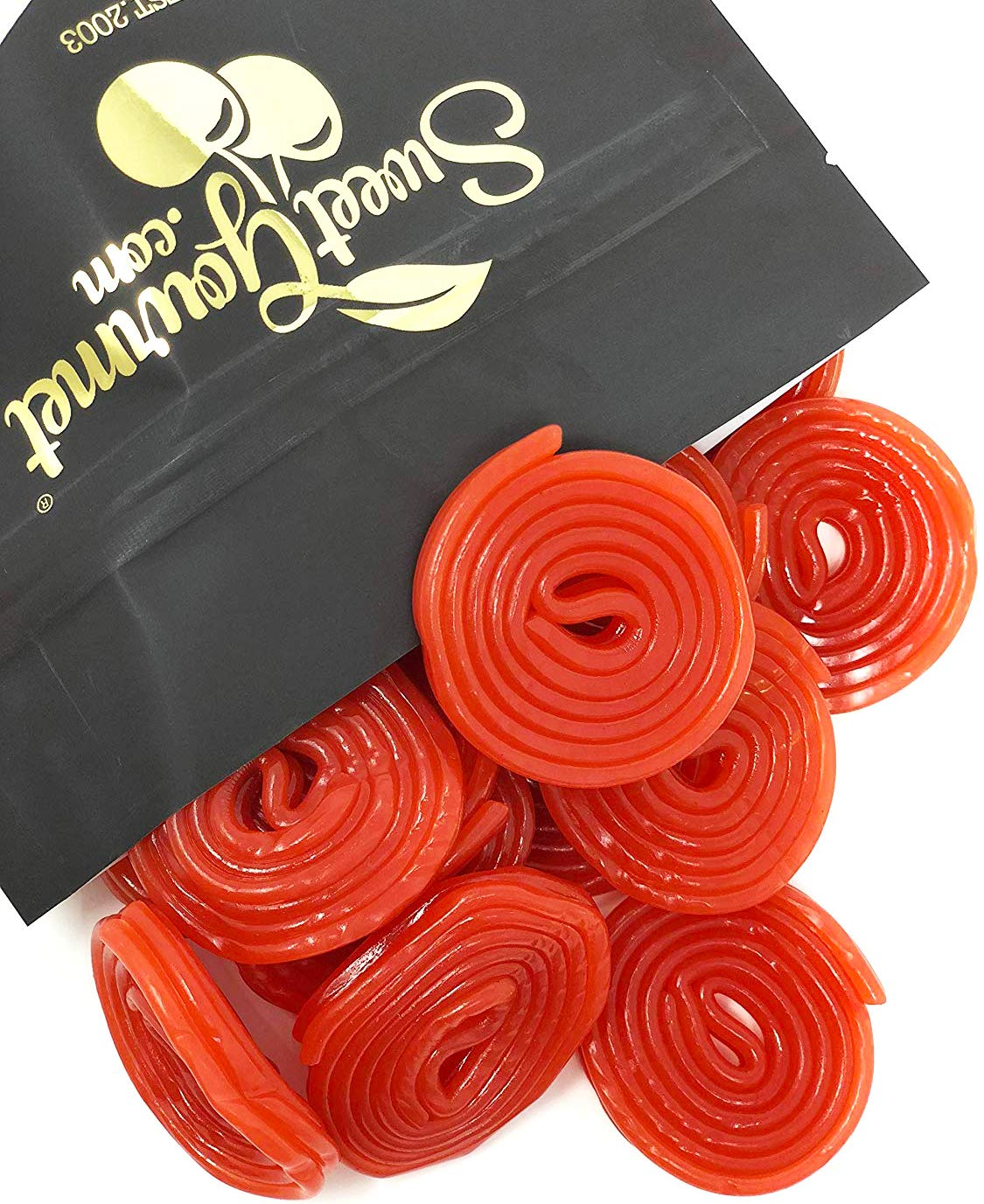 Italian Strawberry Licorice Wheels | Bulk Candy | Natural Colors and Flavors, GMO Free | 2 pounds