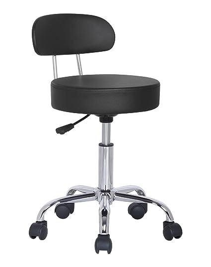 Sgabelli Per Ufficio.Sixbros Office Sgabello Imbottito Per Ufficio Studio Medico Nero M 95027x 2129