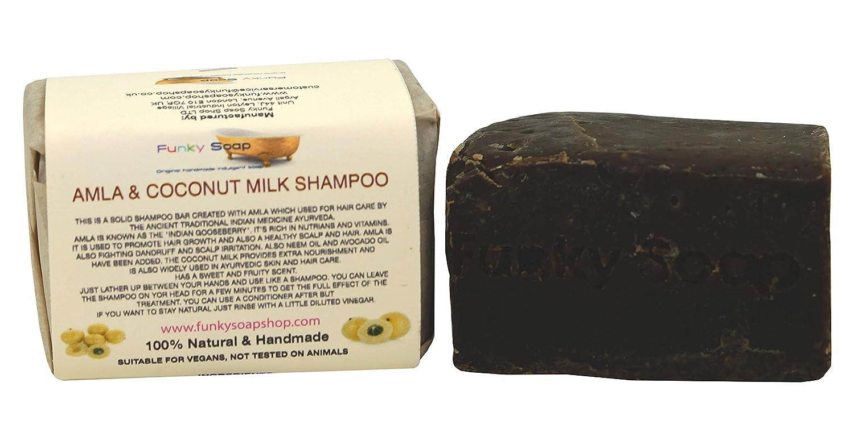 Handcrafted Coconut Milk and Amla Shampoo Bar 120g