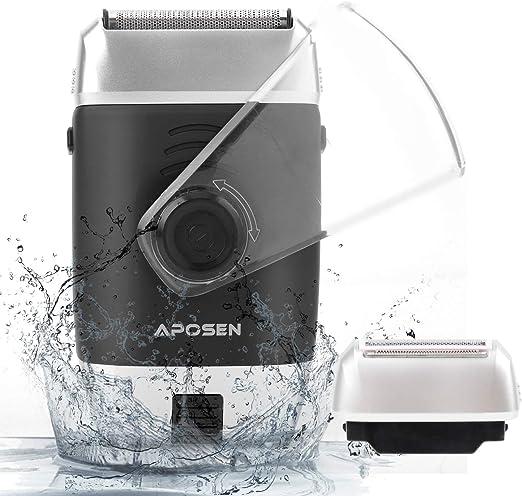 Aposen - Afeitadora eléctrica de viaje para hombre: Amazon.es: Belleza