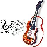 Guitare Enfant, LiKeLuk 21 pouces 4 Cordes Guitare électronique Star Musique - Idéal Cadeau de Noël - Instrument Musical - Jouet éducatif - 909A