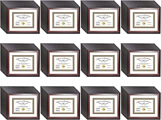product image for flag connections [11x14mh-w] Mahogany Diploma Frame Holds 8.5 by 11 with or 11x14 Without Mat, Graduation Documents Include Stand and Wall Hangers (144-pallet)