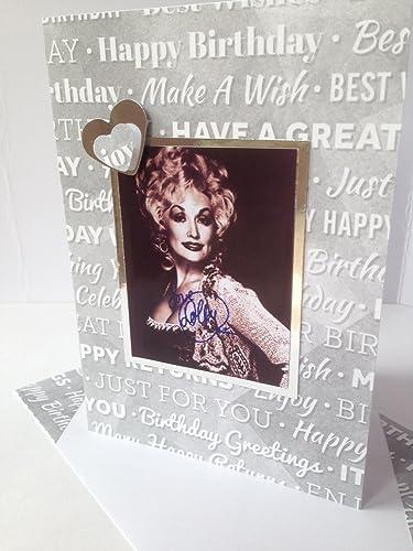 Amazon Dolly Parton Handmade Happy Birthday Card Famous