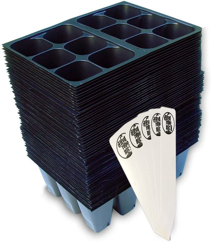 Seedling Starter Trays, 720 Cells 120 Trays – 6 Cells Per Tray THCity Stakes