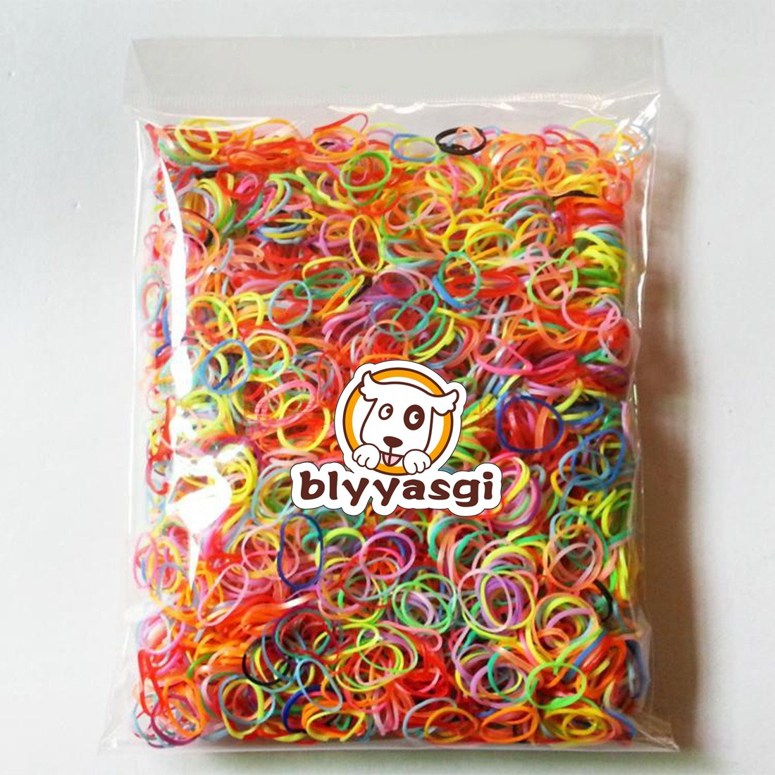 1 Bag Mix Color Tpu Girls Kids Hair Hold Band Elastic Rubber Bands