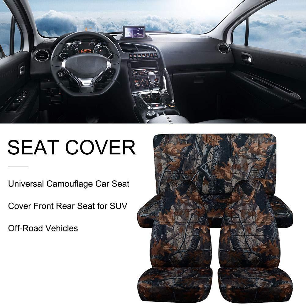 Coprisedili Auto Universali Sedile Posteriore Anteriore per Fuoristrada SUV per Sedili Auto Lavabili Antiscivolo. Kitabetty Coprisedili per Auto Mimetici